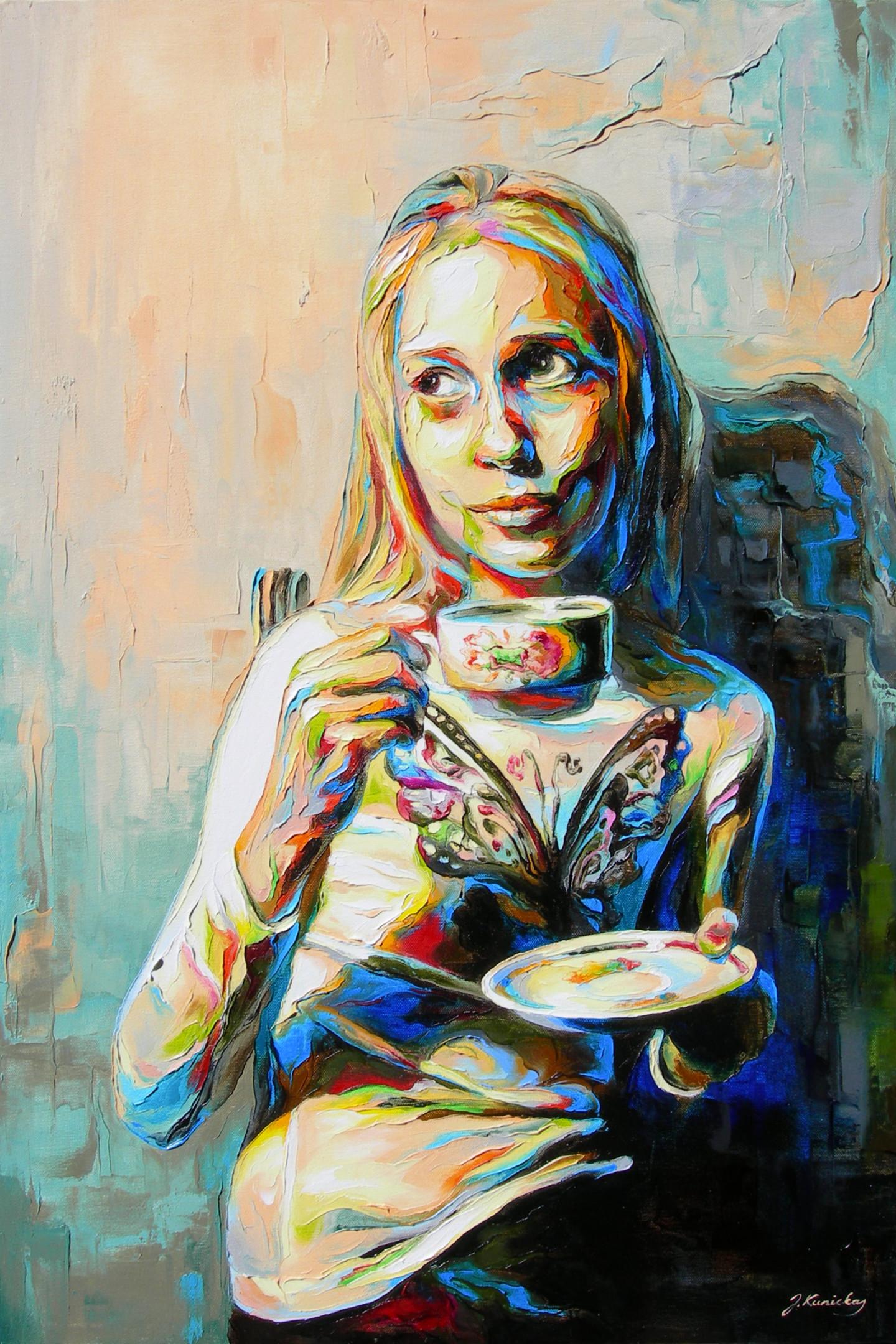 Jonas Kunickas - JK15-0401 Girl with a Teacup