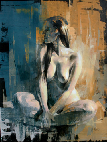 Painting, oil, figurative, artwork by Jonas Kunickas