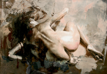 Erotic Painting, oil, figurative, artwork by Jonas Kunickas